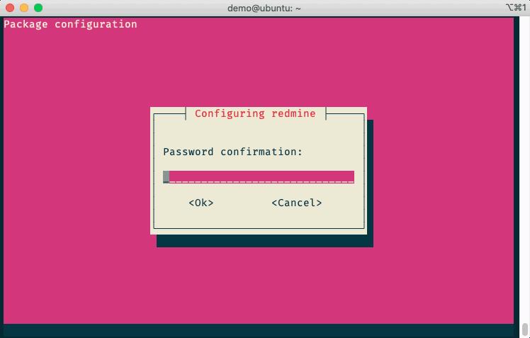 Package Configuration 確認MySQL密碼