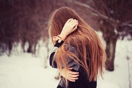 long hair hidden face cute girls