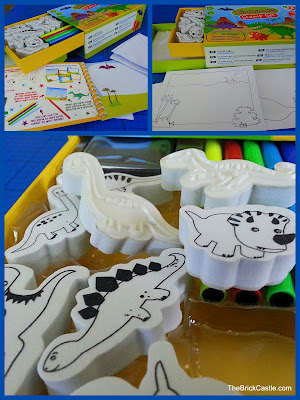Mini Dinosaur stamp set from Meadow Kids