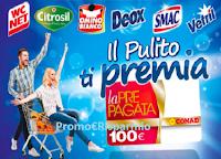 Logo Concorso ''Il pulito ti premia'' con Eroi di Casa vinci 250 Card Conad da 100 euro