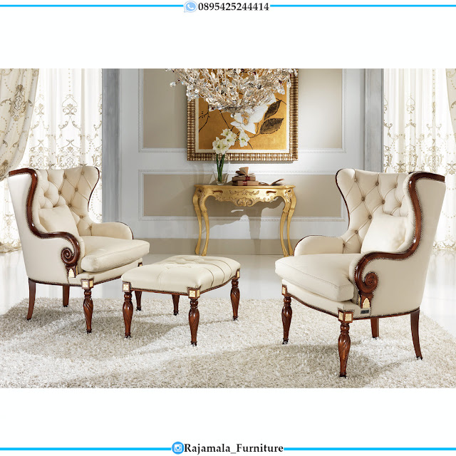 Model Kursi Teras Mewah Jati Natural Classic Luxury Furniture Jepara RM-0534