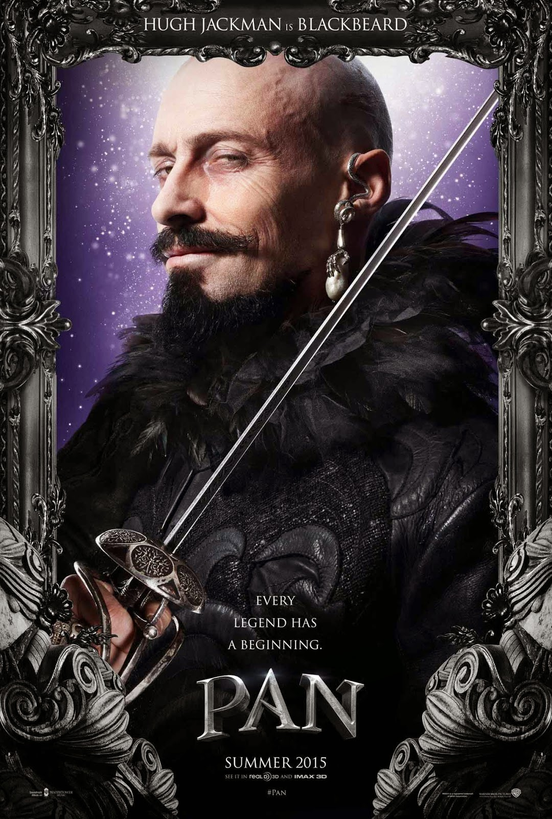 Pan: Hugh Jackman as Blackbeard