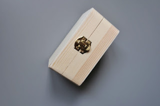 zakupy z TEDi pudełko drewniane