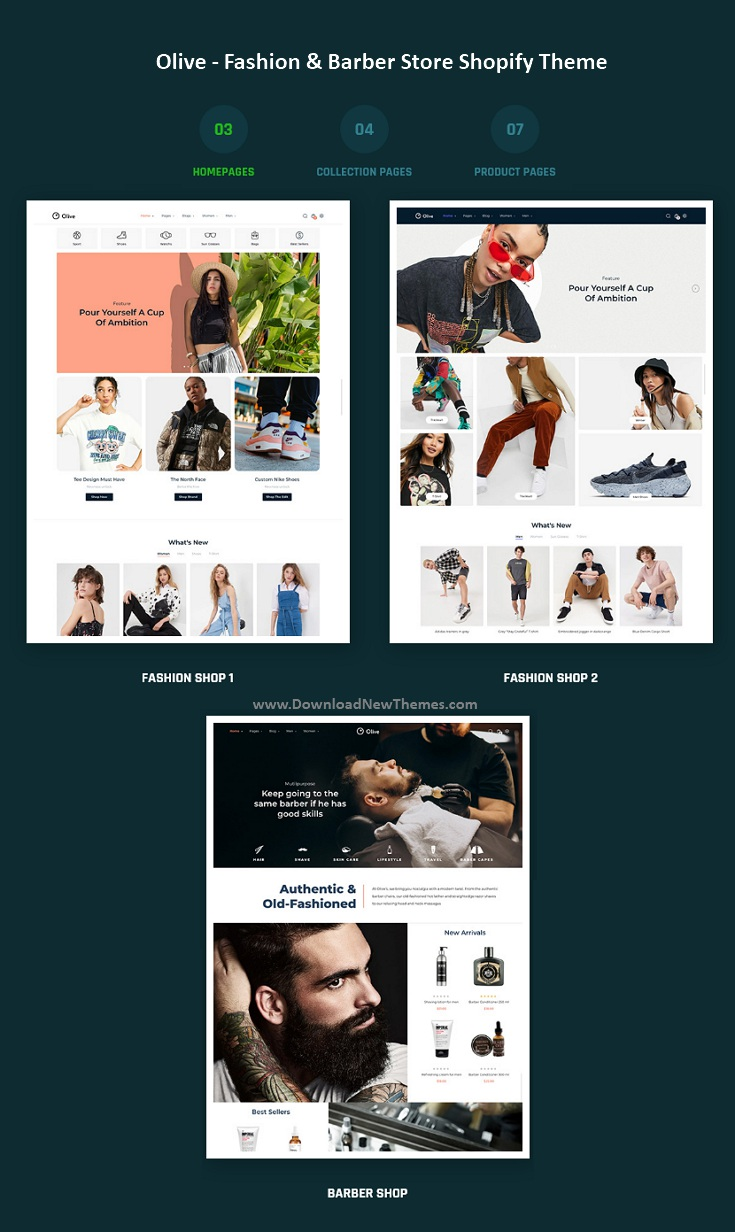 Olive - Fashion & Barber Store Shopify Theme