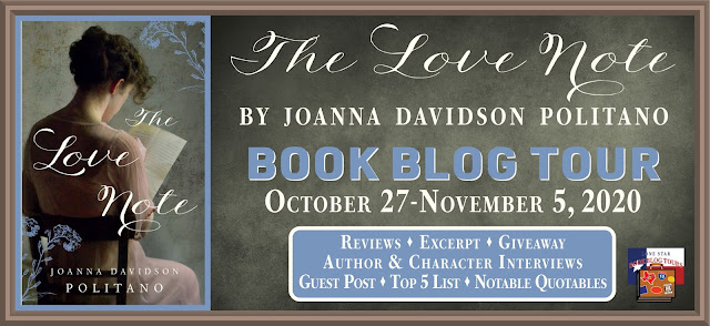 The Love Note book blog tour promotion banner