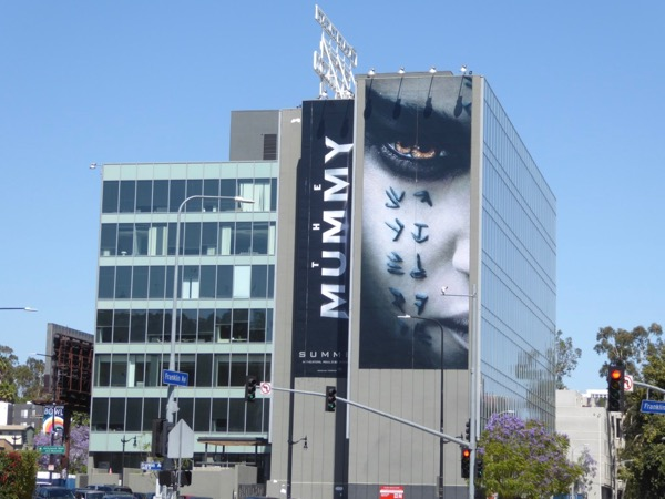 Mummy giant movie billboard