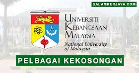 Universiti Kebangsaan Malaysia (UKM) Buka Pengambilan Pelbagai Kekosongan Jawatan Terkini ~ Mohon Sebelum 24 Mei 2021