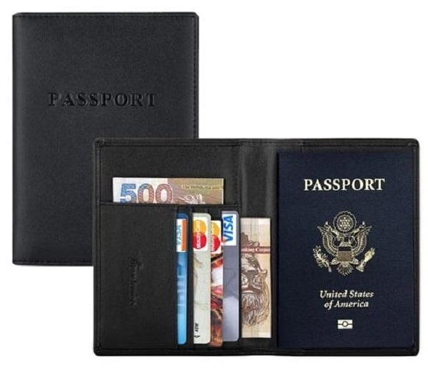 Leather Passport Holder Cum Credit Card Holder Wallet