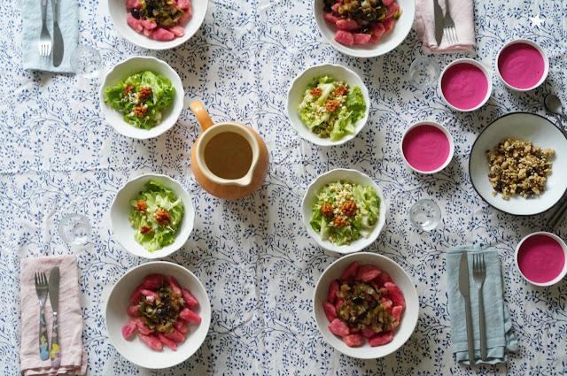 dîner veggie jolie table