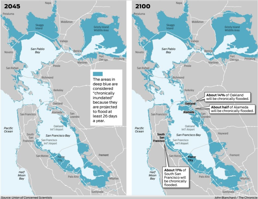 https www sfchronicle com bayarea article scientists expect floods in bay area from rising 11284750 php