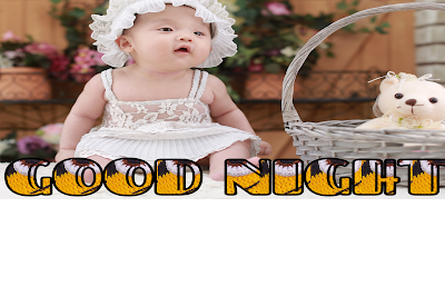 Good night sweet heart image, good night cute baby image