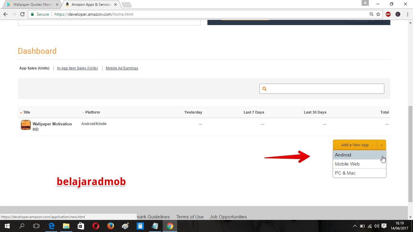 Upload Aplikasi Gratis Ke Amazon Apps