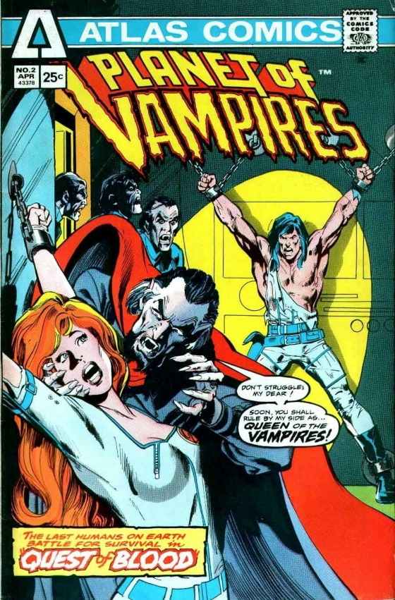 PLANET OF THE VAMPIRES #2, PORTADA DE NEIL ADAMS Y DICK GIORDANO