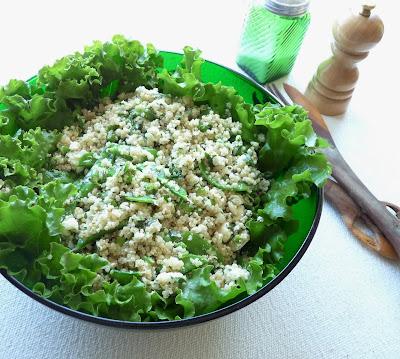 Herby Feta, Quinoa, & Snow Pea Salad