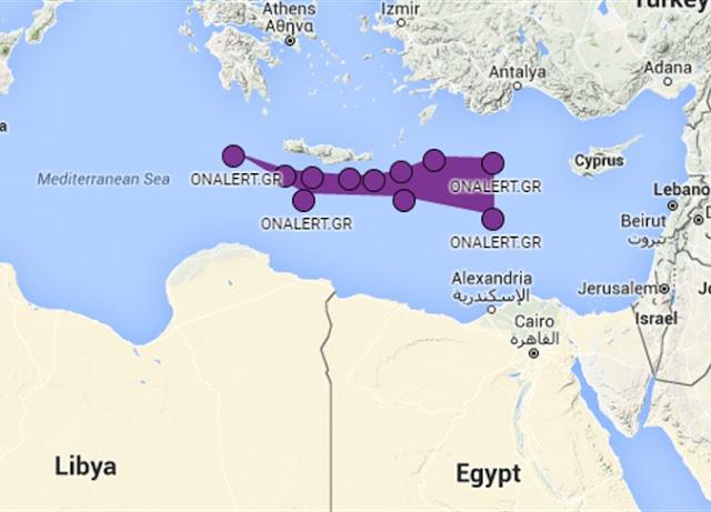 خريطه لأماكن تدريب القوات الاسرائيليه في اليونان