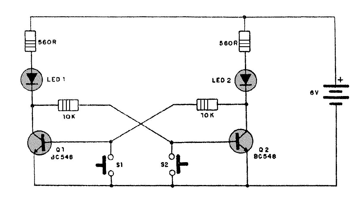 circuito flip flop  alarma flip flop  practica multiplexor