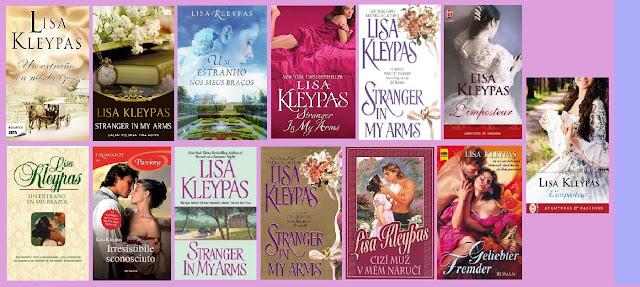portadas de la novela romántica histórica de Lisa Kleypas Un extraño en mis brazos