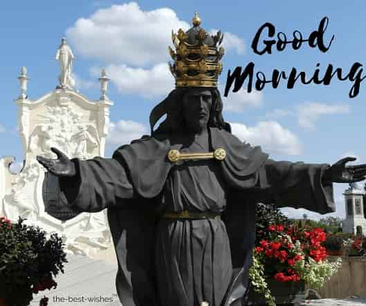 good morning with jesus christ