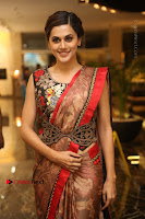 Tapsee Pannu Latest Stills in Red Silk Saree at Anando hma Pre Release Event .COM 0009.JPG