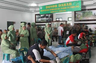 HUT TNI Ke 70, Terkumpul 123 Kantong Darah di Aceh Jaya