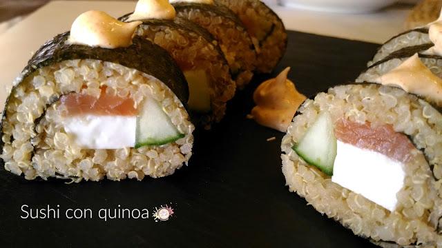 Sushi con quinoa