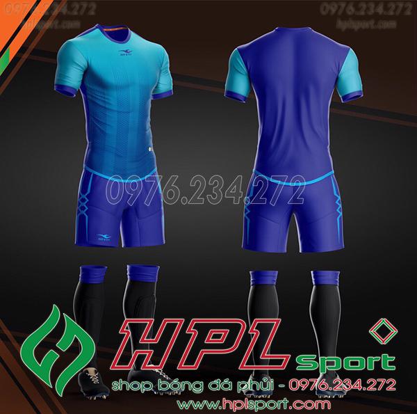 Áo bóng đá không logo KeepFly Snake màu xanh