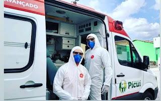 Profissionais do Samu/Picuí recebem EPIs que serão usados diante de casos de Covid-19