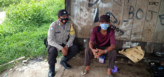 Bhabinkamtibmas Polsek Sebangau Kuala Ajak Warga Cegah Penyebaran Covid-19