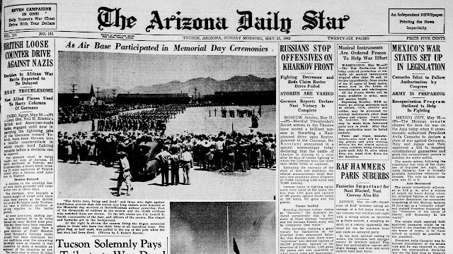 The Arizona Daily Star, 31 May 1942 worldwartwo.filminspector.com