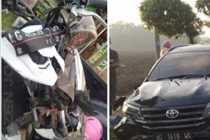 Mobil Vs Motor DiBagor Nganjuk,Satu Korban Meninggal