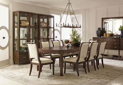 wooden dining room set at Baer's Furniture