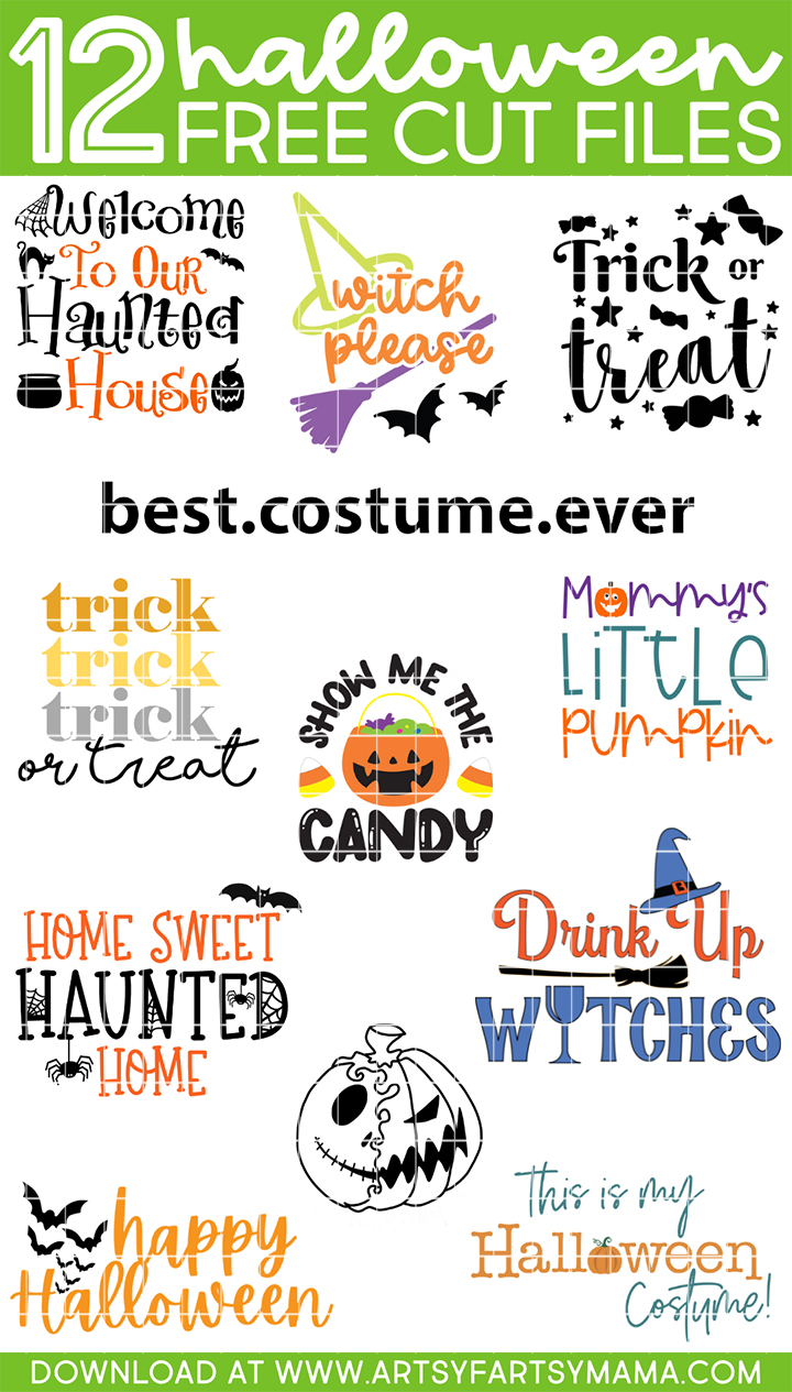 12 Free Halloween Cut Files