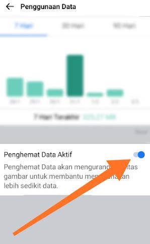 Menghemat kuota di facebook lite dengan mengurangi Penggunaan Data Kuota berlebihan 3