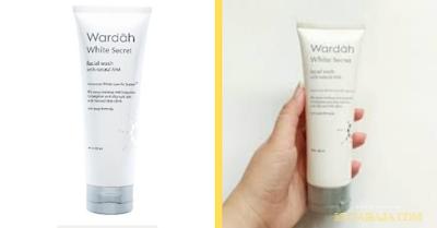 Wardah white secret facial wash with AHA Rekomendasi Sabun Cuci Muka Untuk Kulit Berminyak Dan Berflek Hitam
