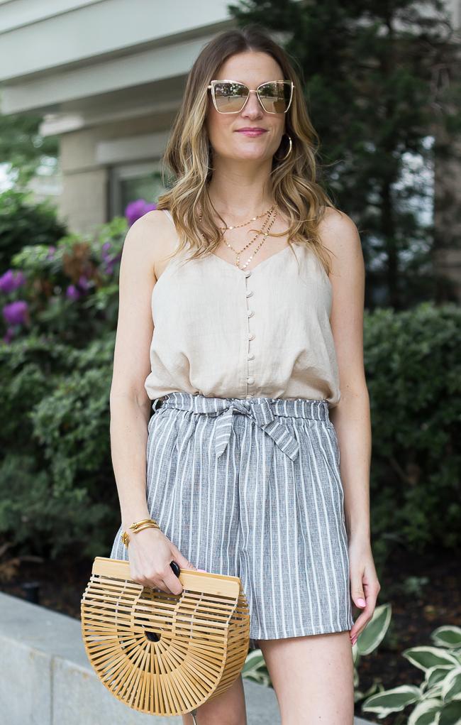 Paper Bag Shorts #tiewaistshorts