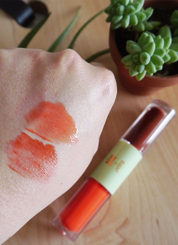 Pixi GelTint & SilkGloss BeachTint and FreshGloss swatches