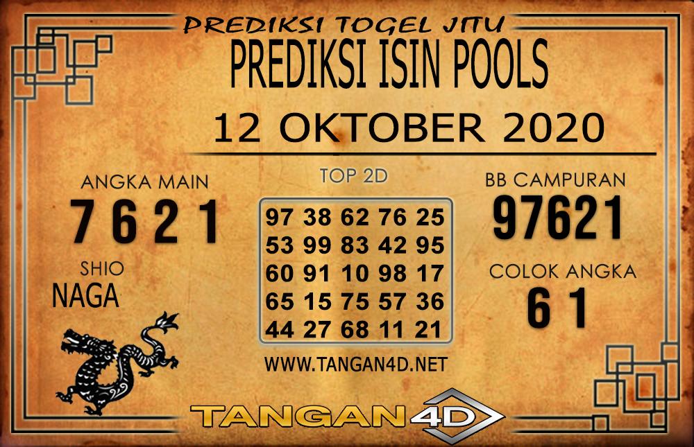 PREDIKSI TOGEL ISIN TANGAN4D 12 OKTOBER 2020