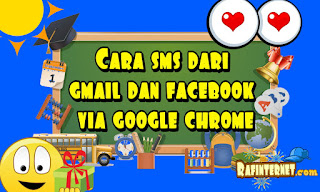 Cara sms dari gmail dan facebook via google chrome