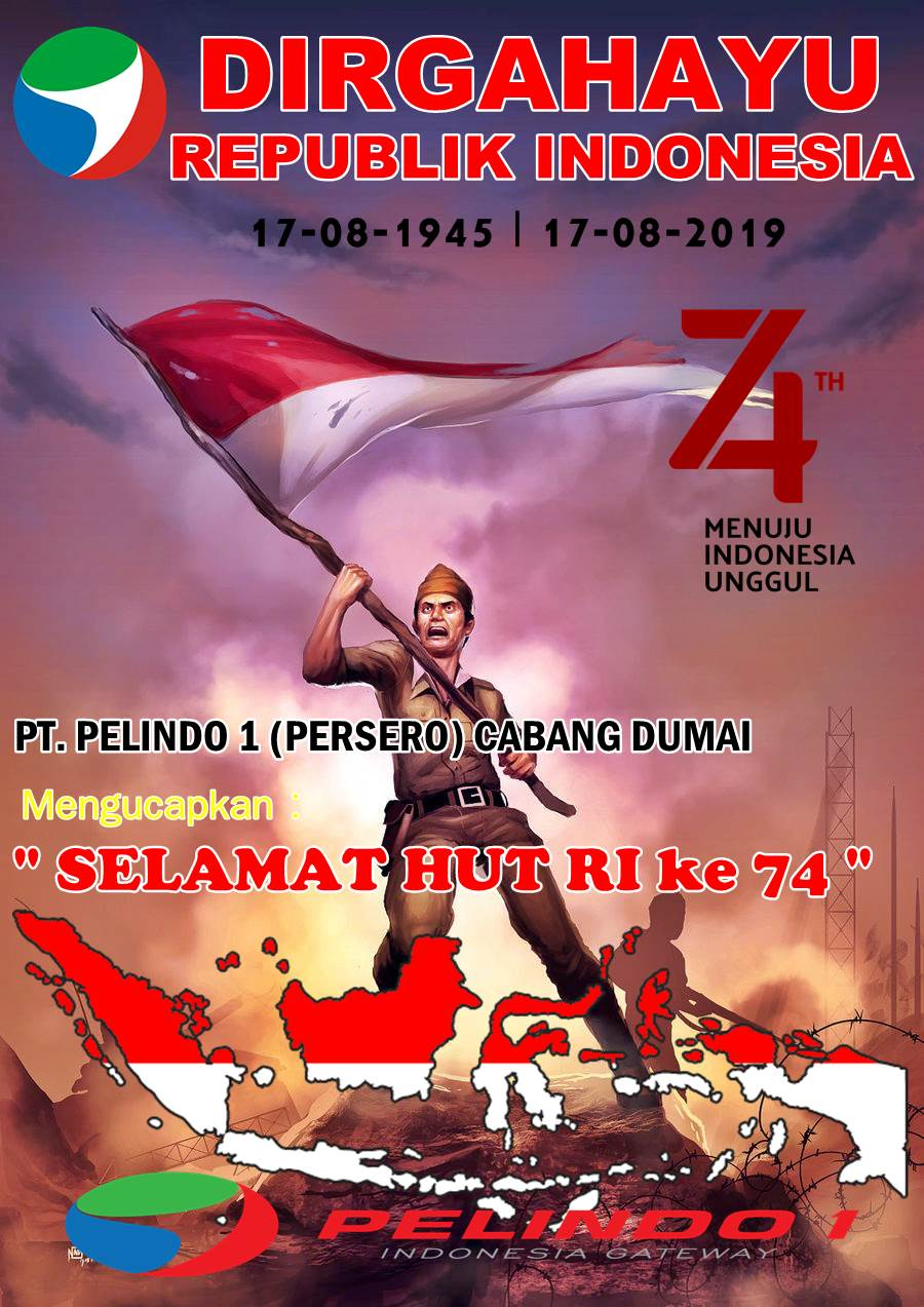 Poster Kemerdekaan Indonesia Ke 74 : poster, kemerdekaan, indonesia, 2019', Pelindo, Cabang, Dumai:, Selamat, Pados, Berita