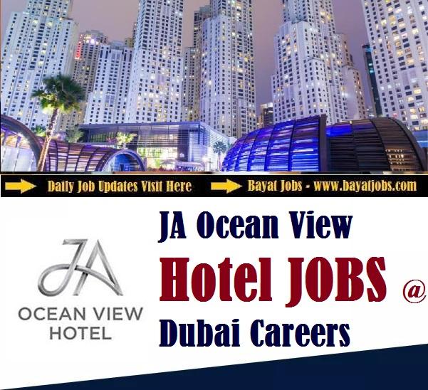 JA Ocean View Hotel Dubai Careers (FEB 2020)
