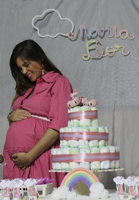 Chá de Bebê, chá de bebê econômico, chá de bebê menina, Chá de Fraldas, chuva de amor, chuva de benção, chuva de bençãos, decoração, decoração diy, DIY, Festinhas, Mamãe Criativa, tricotin, artesanato