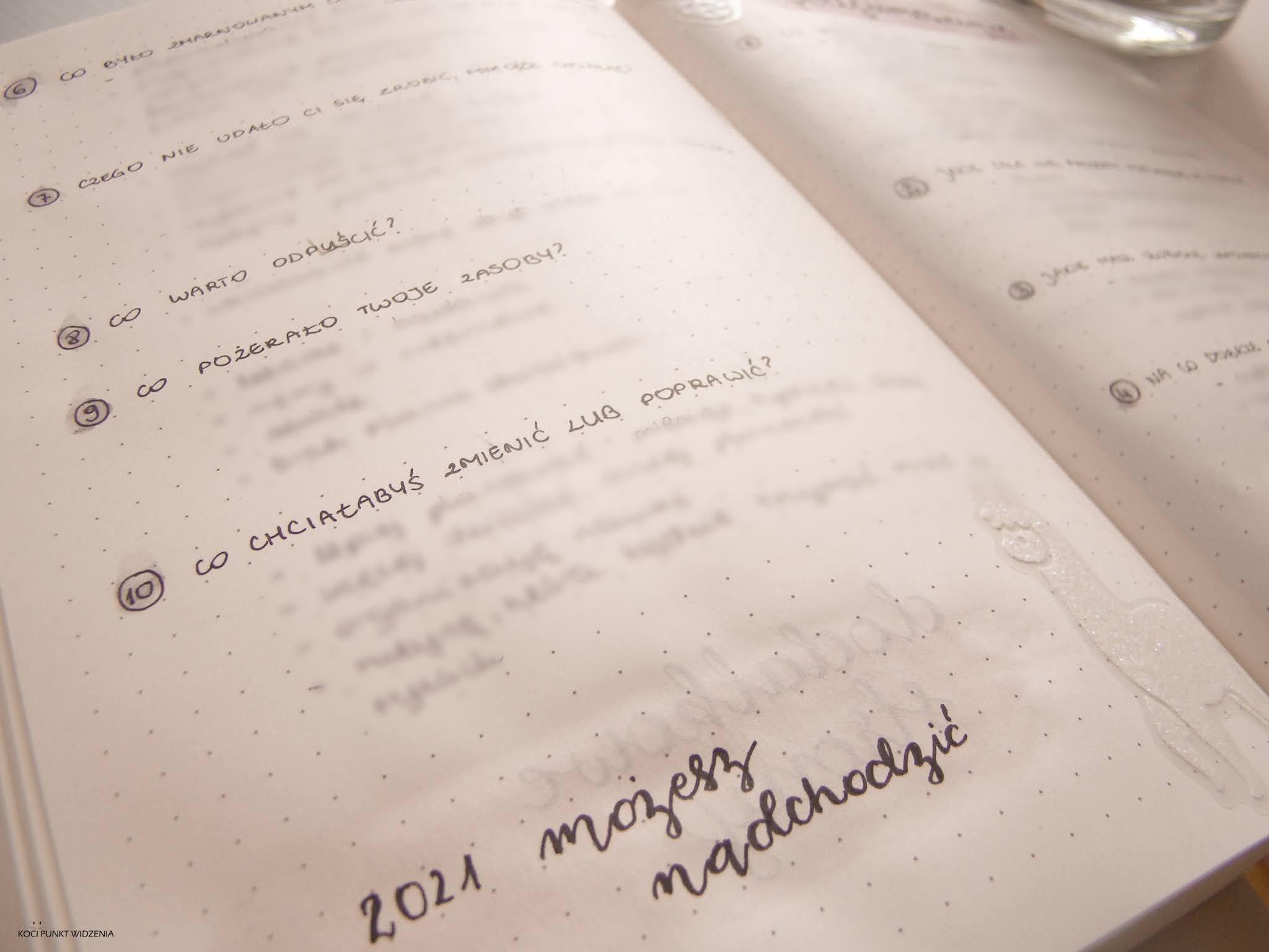 bullet journal podsumowanie roku