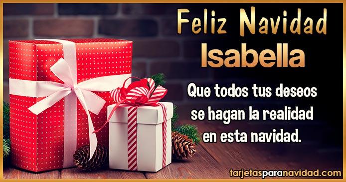 Feliz Navidad Isabella