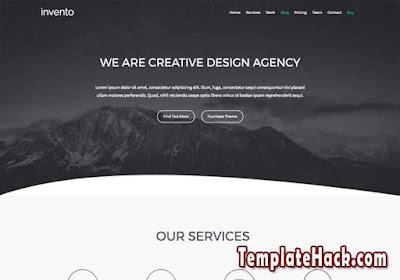 invento portfolio blogger template