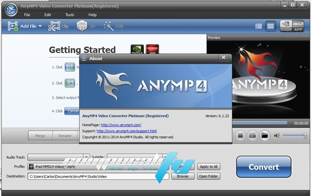 AnyMP4 Video Converter 2D a 3D Platinum 6.1