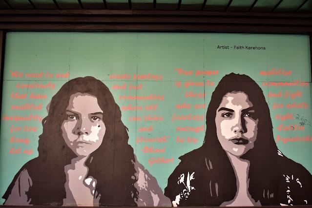 International Woman's Day mural by FaithSprays
