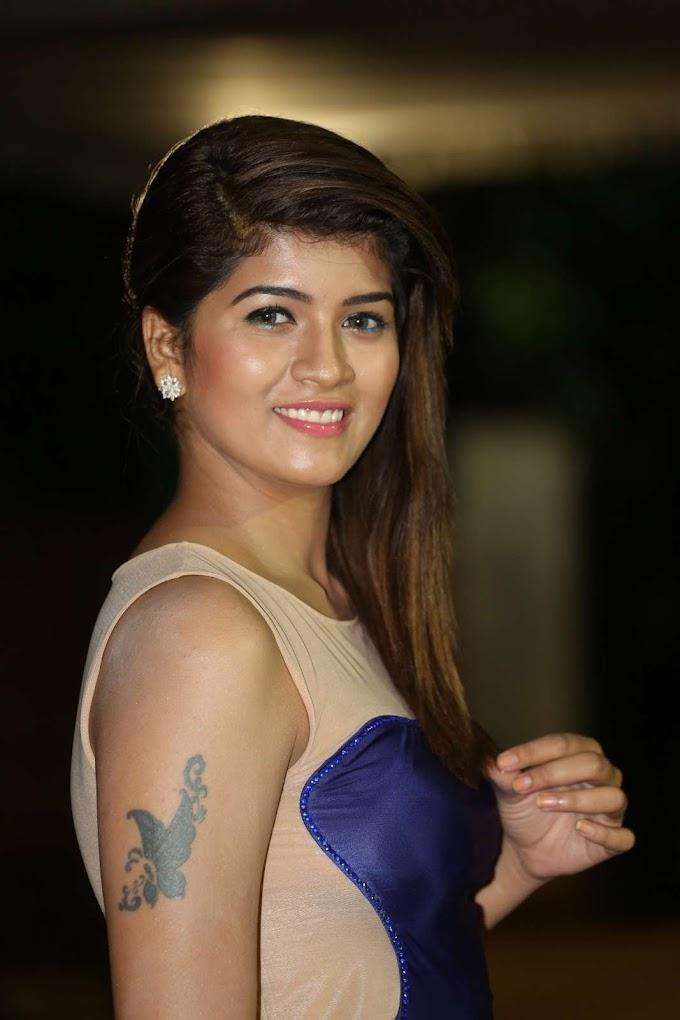 Beautiful and Sexy Apoorva Rai In Blue Dress Hot Photos