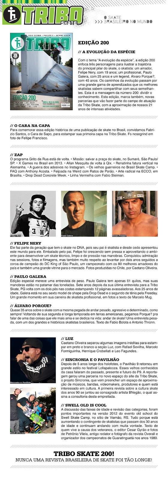 9fc6c759c2f3c Revista Tribo Skate Edição 200 -