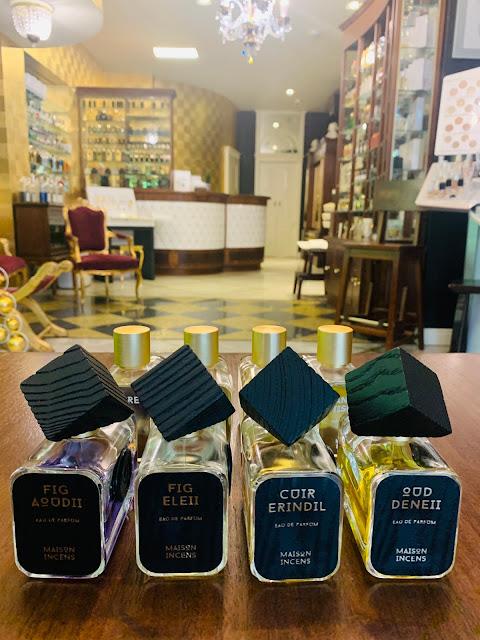Zdjęcie flakonów perfum Maison Incens w Domu perfumeryjnym Perfumerii Quality Missala