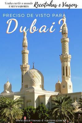 Preciso de visto para Dubai?